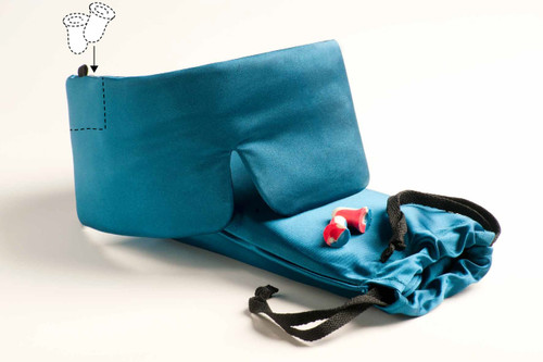 Sleep Master® Deluxe Sleep Mask - Featuring Earplugs Storage Pocket and Carry Pouch