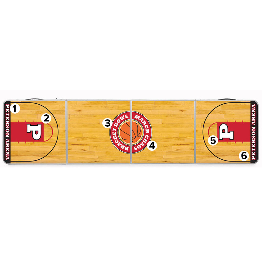 Custom Tailgate / Beer Pong Table - Basketball Court