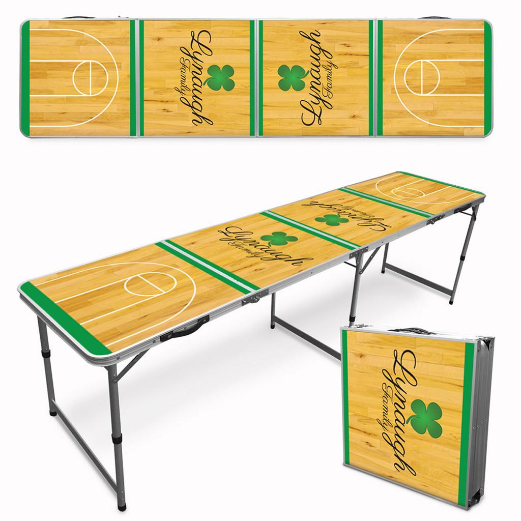Custom Tailgate / Beer Pong Table - Shamrock