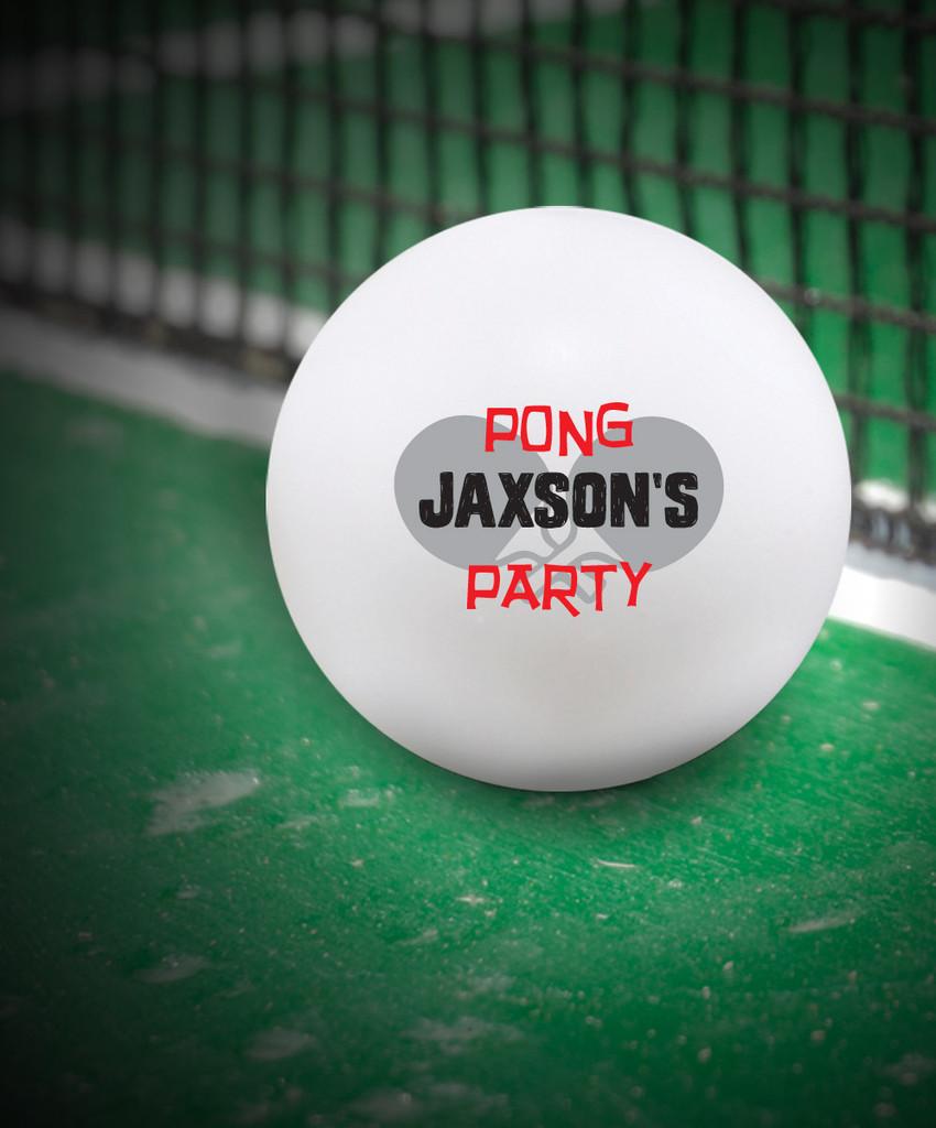 Custom White 38 mm Ping Pong Ball