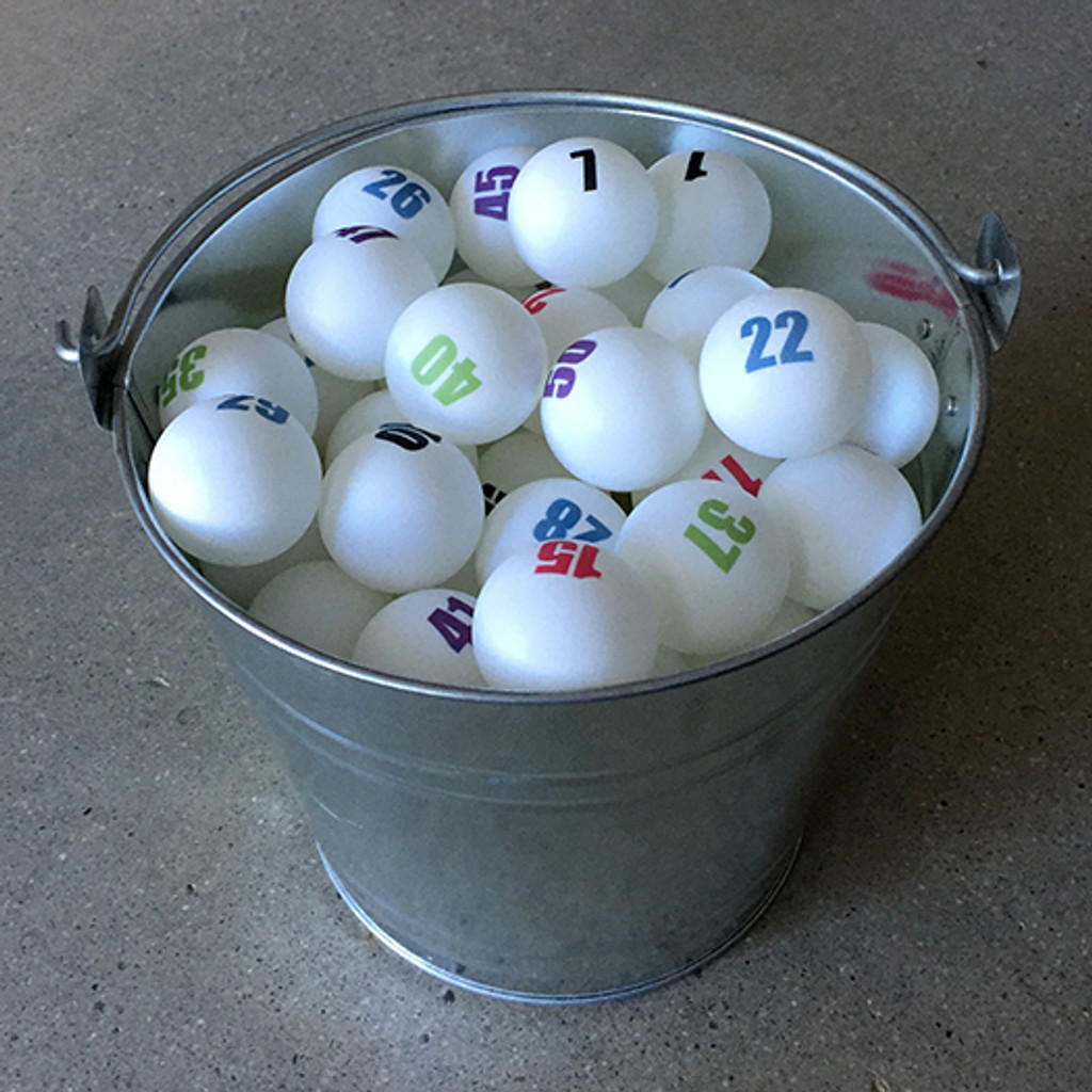 Set of 25 Individually Numbered White Ping Pong Balls