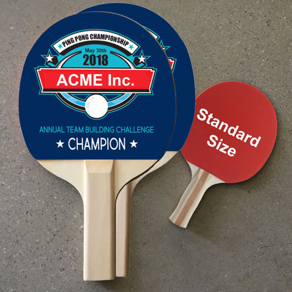 Custom Color Large Ping Pong Paddle - Double Side Imprint