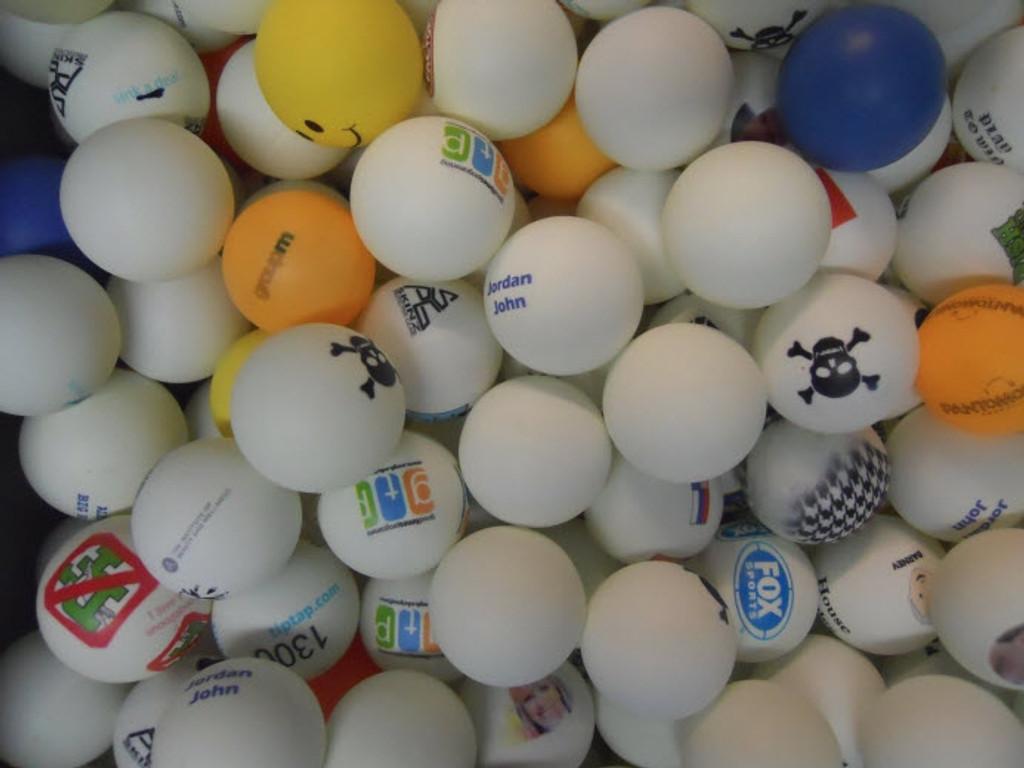 Mis-Printed Ping Pong Balls