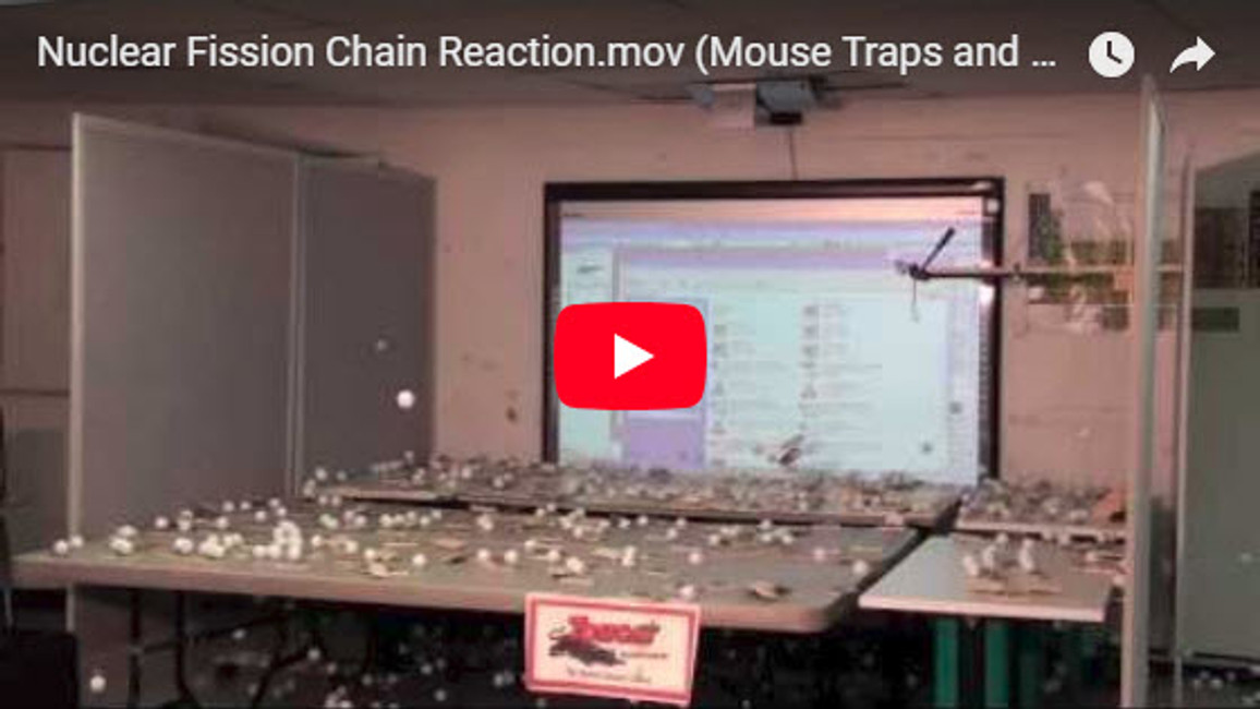 Nuclear Fission Chain Reaction (Mouse Traps and Ping Pong Balls)