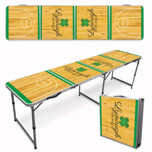 Custom Tailgate / Beer Pong Table - Shamrock