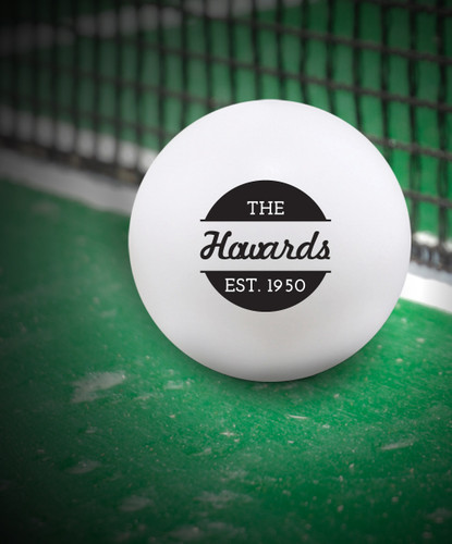 Custom White 44 mm Ping Pong Ball