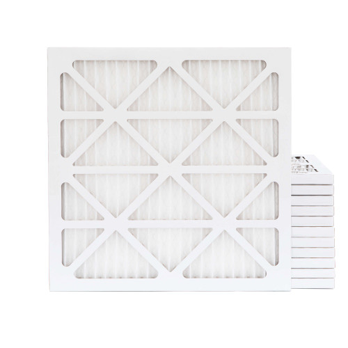 25x25x1 MERV 13 Pleated AC Furnace Air Filters.    Case of 12