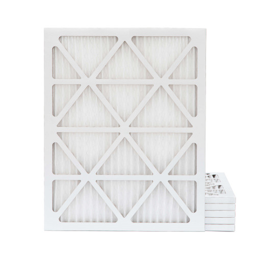20x25x1 MERV 11 Pleated AC Furnace Air Filters.    6 Pack