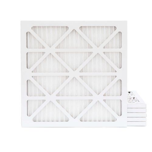 24x24x1 MERV 8 Pleated AC Furnace Air Filters.    6 Pack
