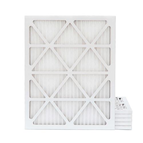 20x22x1 MERV 8 Pleated AC Furnace Air Filters.    6 Pack