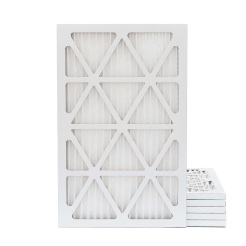 14x25x1 MERV 8 Pleated AC Furnace Air Filters.   6 Pack