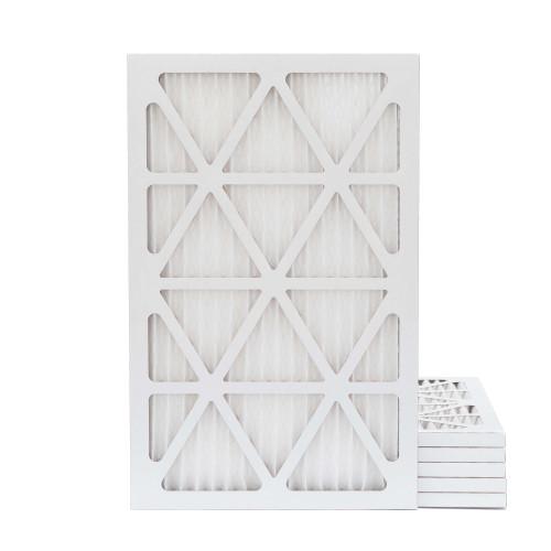 16X24X1 MERV 8 Pleated AC Furnace Air Filters.   6 Pack