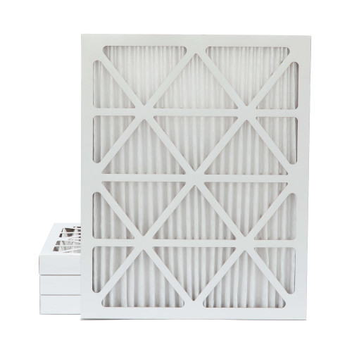 16x20x2 MERV 8 Pleated AC Furnace Air Filters.    4 Pack