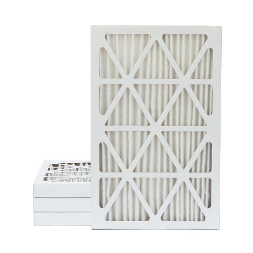 16x25x2 MERV 8 Pleated AC Furnace Air Filters.   4 Pack
