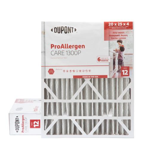 DuPont 20x25x4 MERV 12 Pro Allergen Air Filters.