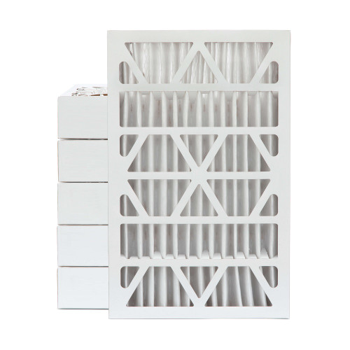 16x25x4 MERV 8 Pleated AC Furnace Air Filters.   Case of 6