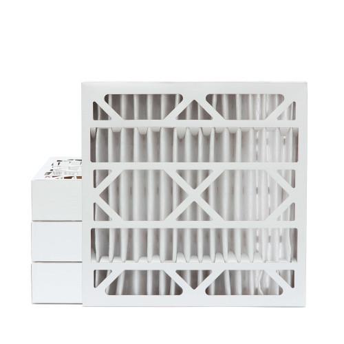 20x20x4 MERV 8 Pleated AC Furnace Air Filters.  4 Pack