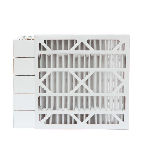 20x20x4 MERV 8 Pleated AC Furnace Air Filters.  Case of 6