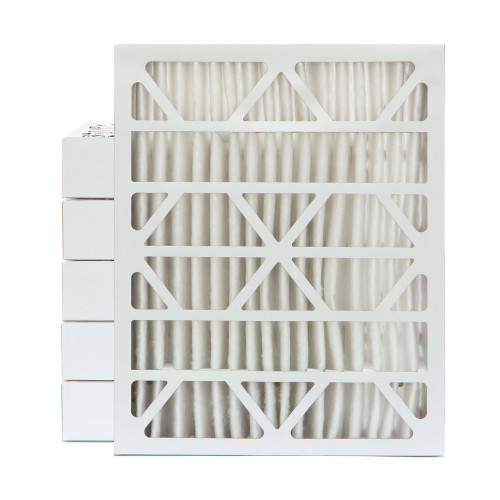 20x25x4 MERV 13 Pleated AC Furnace Air Filters. Case of 6