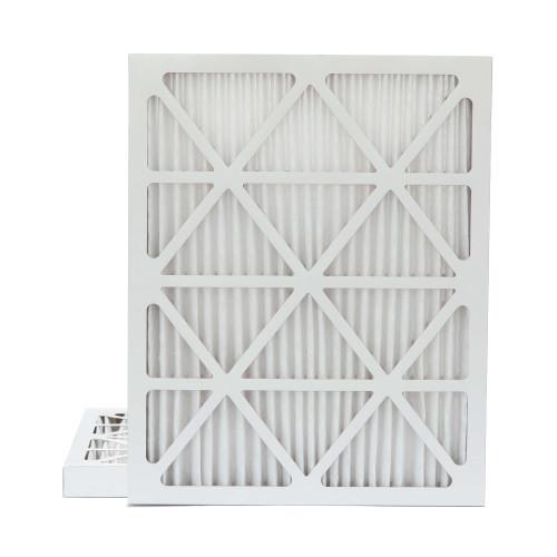 16x20x2 MERV 8 Pleated AC Furnace Air Filters.    2 Pack