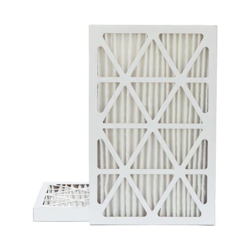 16x25x2 MERV 13 Pleated AC Furnace Air Filters.    2 Pack