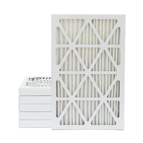 16x25x2 MERV 13 Pleated AC Furnace Air Filters.    6 Pack