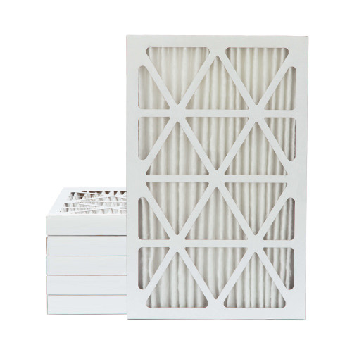 16x25x2 MERV 8 Pleated AC Furnace Air Filters.   6 Pack