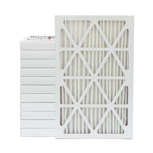 16x25x2 MERV 8 Pleated AC Furnace Air Filters.   Case of 12