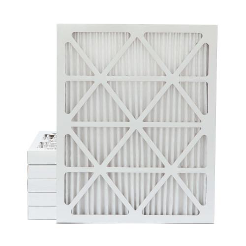 20x25x2 MERV 11 Pleated AC Furnace Air Filters.    6 Pack