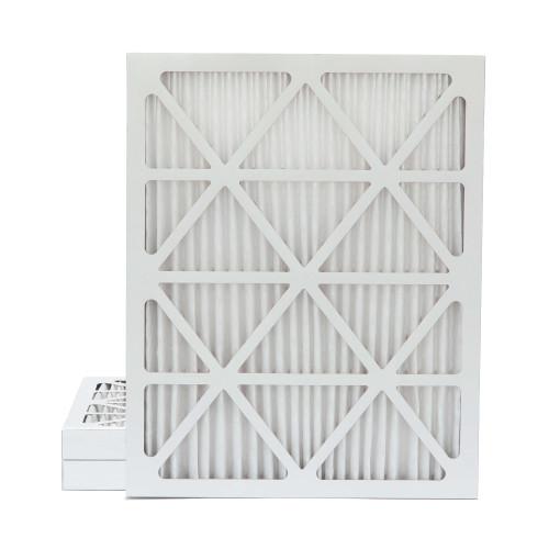 20x25x2 MERV 8 Pleated AC Furnace Air Filters.    3 Pack