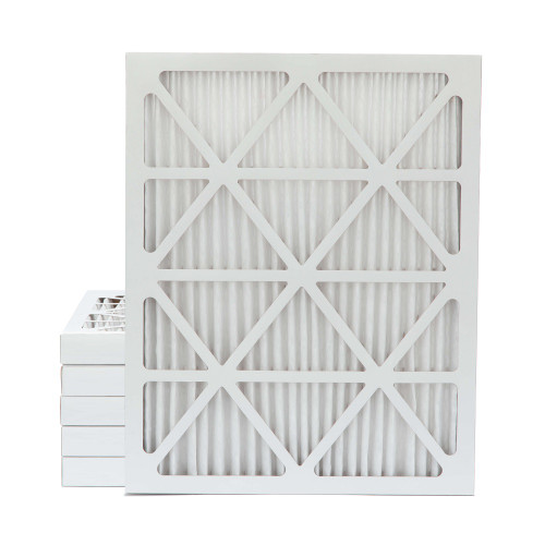 20x25x2 MERV 8 Pleated AC Furnace Air Filters.    6 Pack