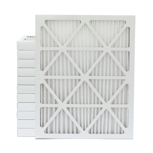 20x25x2 MERV 8 Pleated AC Furnace Air Filters.    Case of 12