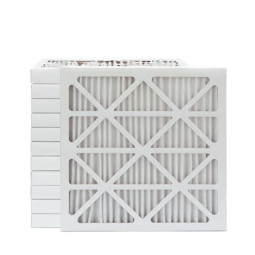 25x25x2 MERV 13 Pleated AC Furnace Air Filters.   Case of 12