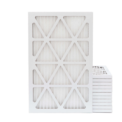 16x25x1 MERV 8 Pleated AC Furnace Air Filters.   Case of 12
