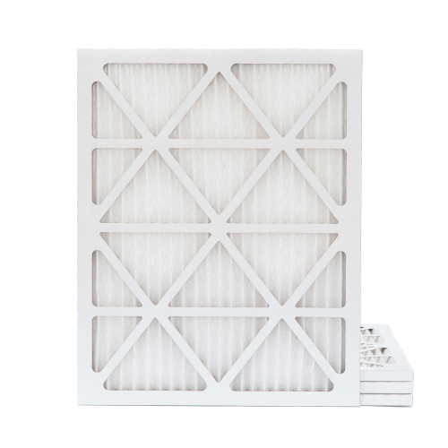 18x25x1 MERV 8 Pleated AC Furnace Air Filters.  4 Pack