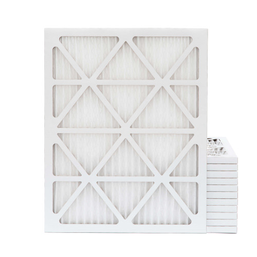 20x25x1 MERV 13 Pleated AC Furnace Air Filters.   Case of 12