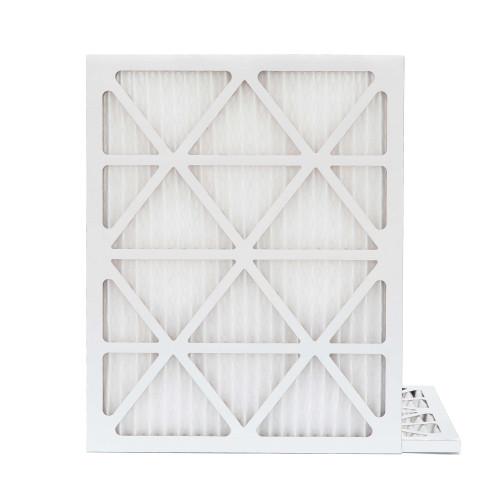 20x25x1 MERV 8 Pleated AC Furnace Air Filters.   2 Pack
