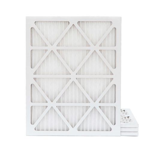 20x25x1 MERV 8 Pleated AC Furnace Air Filters.   4 Pack