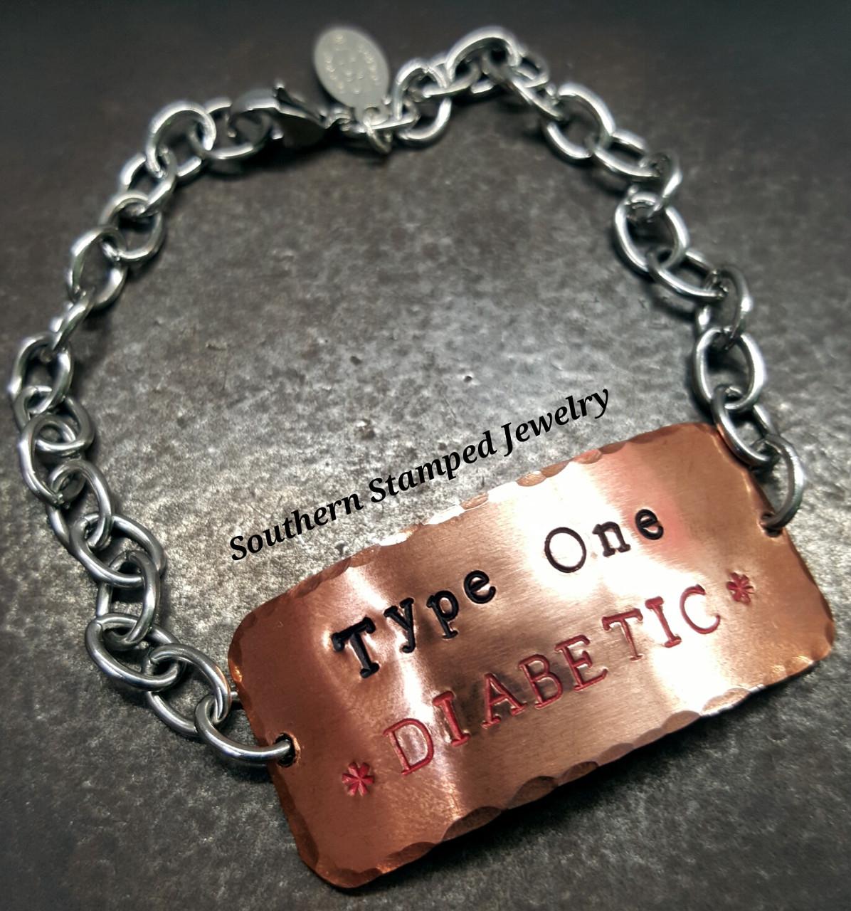 Medical Alert Bracelet >> Stainless Steel Copper Medical Alert Bracelet Southern Stamped