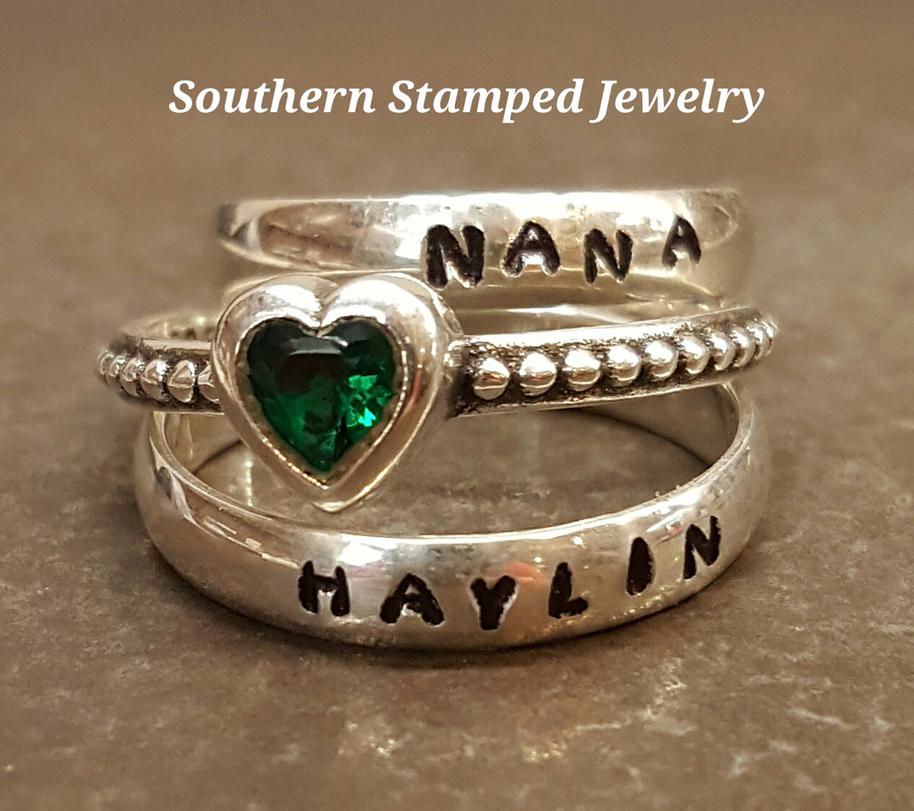 Personalized Rings For Mom