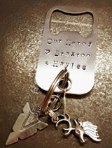Losing Your Daddy - memorial jewelry at Southern Stamped