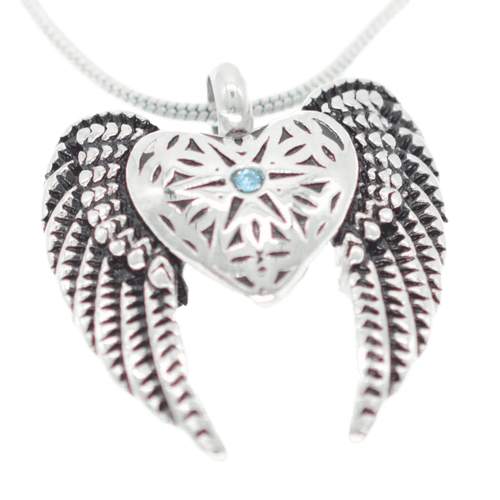 Lace Angel's Wings Urn
