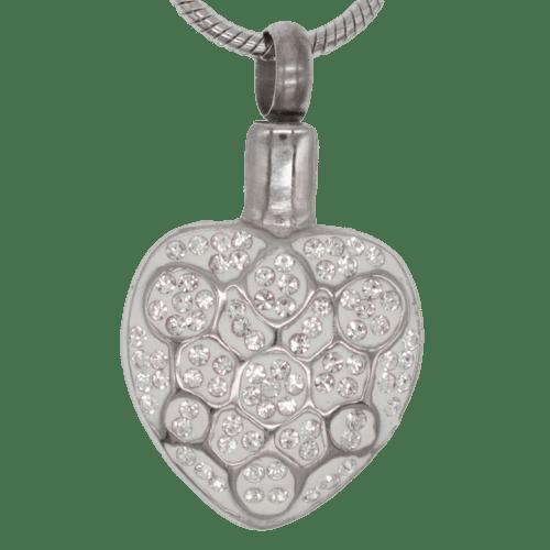 White Diamond Crystals Urn