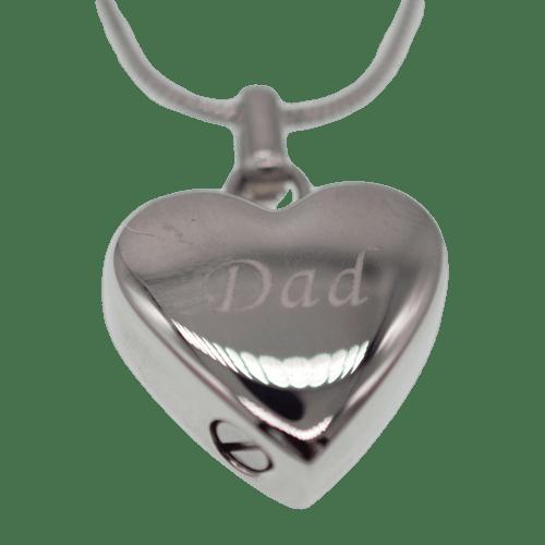Dad in my heart keepsake urn