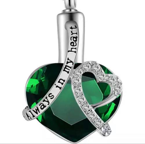 Dark Green Gem Always In My Heart Urn