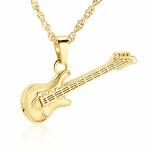 Gold Electric Guitar Shaped Urn For Ashes