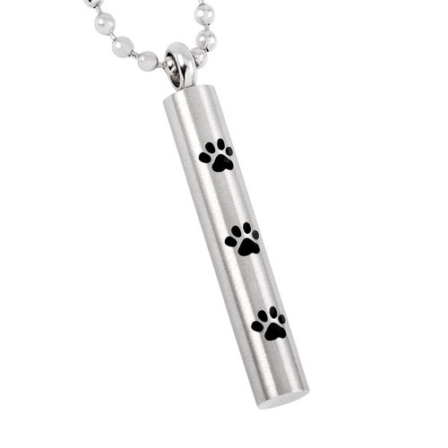 Silver Paw Urn Necklace