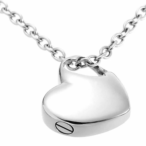 Heart Cremation Urn Necklace