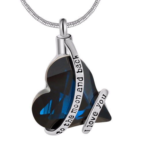 To The Moon And Back I Love You Urn Necklace