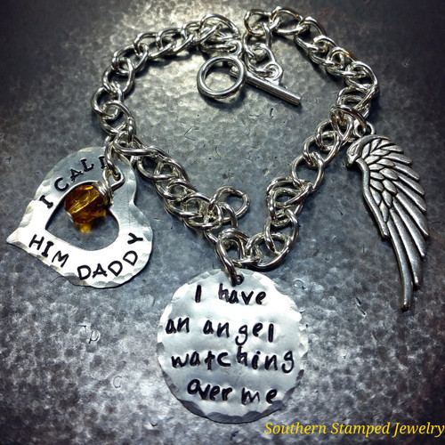 I Have An Angel with Open Silver Heart Bracelet